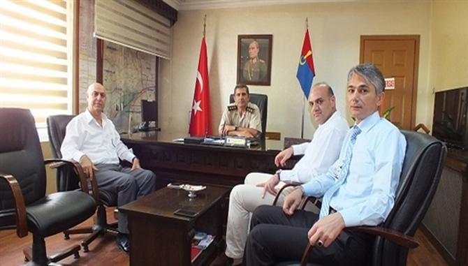 Tarsus Jandarma Komutanı Erin'e, Ticaret Borsası'ndan Ziyaret