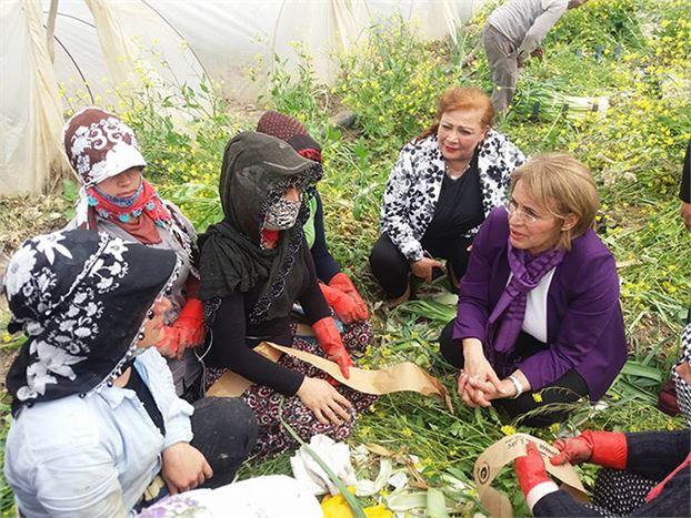 CHP Kadın Kolları Genel Başkanı Köse, Tarım İşçilerine 'Hayır'ı Anlattı