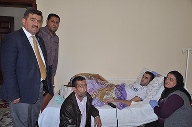 AK Parti İlçe Başkanı İbrahim Gül, Gazi Asker ve Ailesini Ziyaret Etti