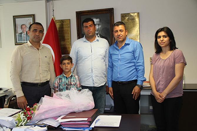 İlçe Milli Eğitim Müdürü Mehmet Kalaycı'ya Teşekkür Ziyareti