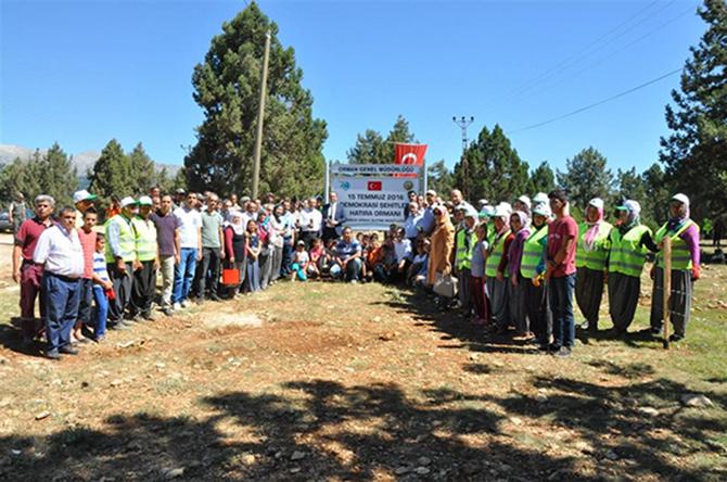 Çamlıyayla'da '15 Temmuz Demokrasi Şehitleri' Hatıra Ormanı Oluşturuldu