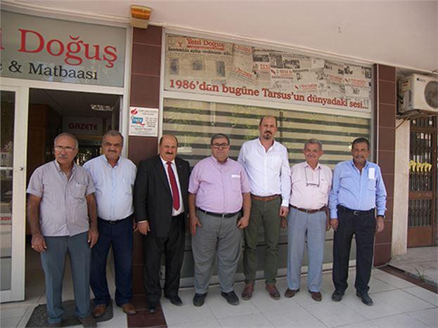 Tarsus Muhtarları Derneği'nden Gazetemize Ziyaret