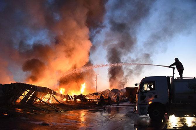 Hal'deki Yangın Çıkaran Zanlı, Serbest Bırakıldı