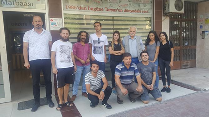 Tarsus Şehir Tiyatrosu Oyuncuları Gazetemizi Ziyaret Etti