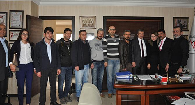 İstemihan Talay Tarsus'ta Oda Başkanlarını Ziyaret Etti