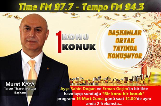 Başkan Murat Kaya, Bugün İki Radyo'nun Konuğu Olacak