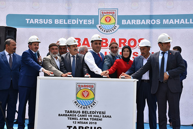 Barbaros Mahallesi'nde Camii Ve Halı Saha Temel Atma Töreni Gerçekleştirildi