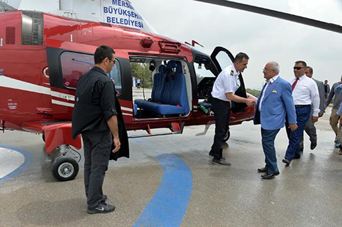 Mersin Büyükşehir Belediyesi Helikopter Aldı