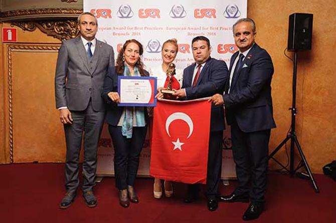 En İyi Uygulama 2018 Avrupa Ödülü Tarsus Belediyesine Verildi
