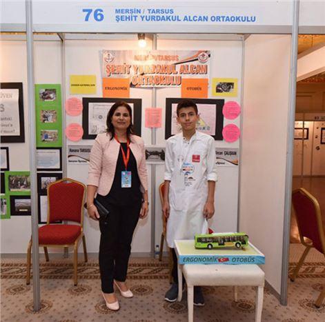 Şehit Yurdakul Alcan Ortaokulu, 'Bir Düşün Sen'  Türkiye Sergisi ve Ödül Törenine Katıldı