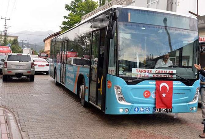 Tarsus'ta Ulaşımın Kolaylığı Vatandaştan Tam Not Alıyor
