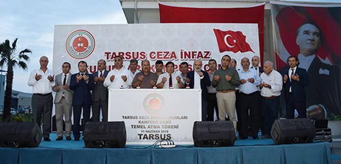 Tarsus Cezaevi Kampüsünde Yapılacak Caminin Temeli Atıldı