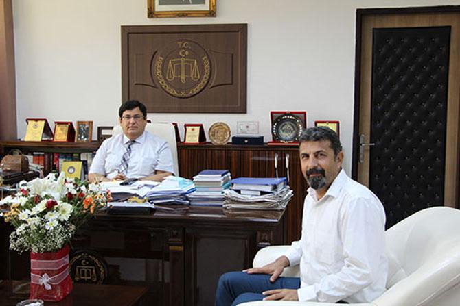 Baro Başkanı Yeşilboğaz'dan, Başsavcı ve Cezaevine Ziyaret Etti
