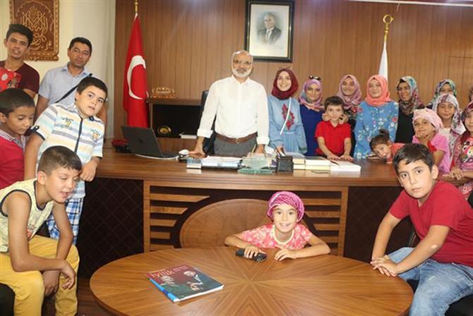 Yaz Kur'an Kursu Öğrencilerinden Müftü Erenay'a Ziyaret