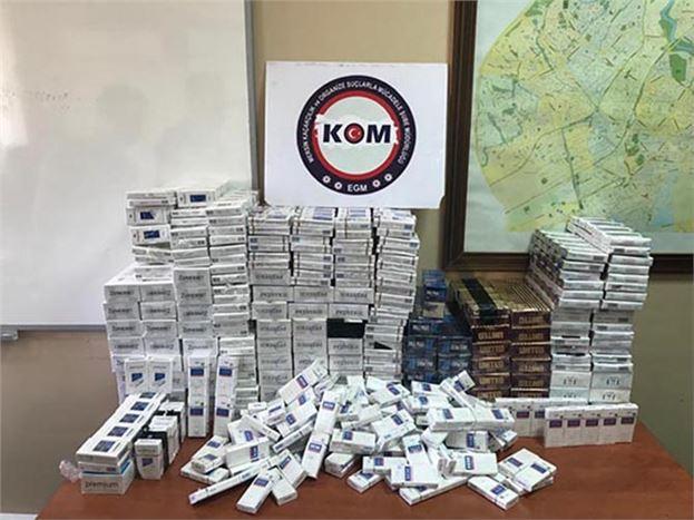 Kaçak Sigara Ele Geçirildi