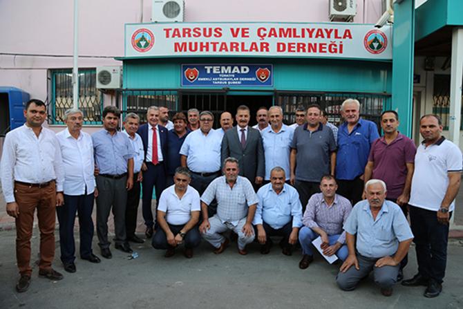 Tuna, Tarsus'ta STK'ları Ziyaret Etti
