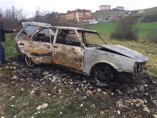 Otomobil Yakıldı