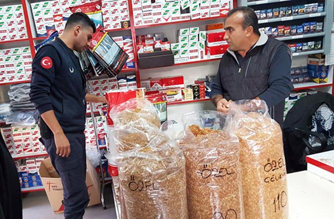 130 Kg Kaçak Tütün Ele Geçirildi