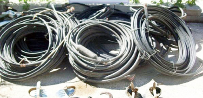 Tarsus'ta Kablo Hırsızlığı