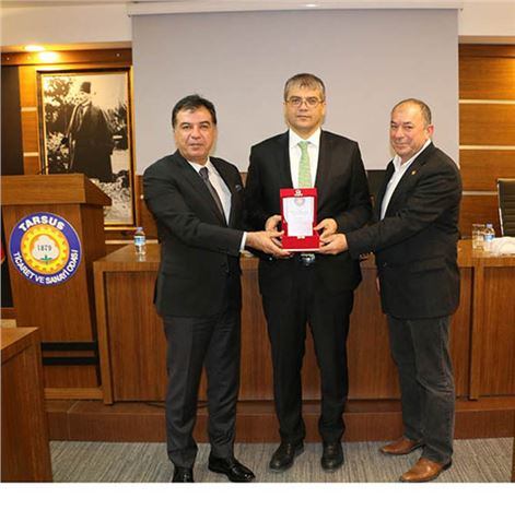 Tarsus Üniversitesi Rektörü Prof. Dr. Orhan Aydın, TSO'nun Meclis Toplantısına Katıldı
