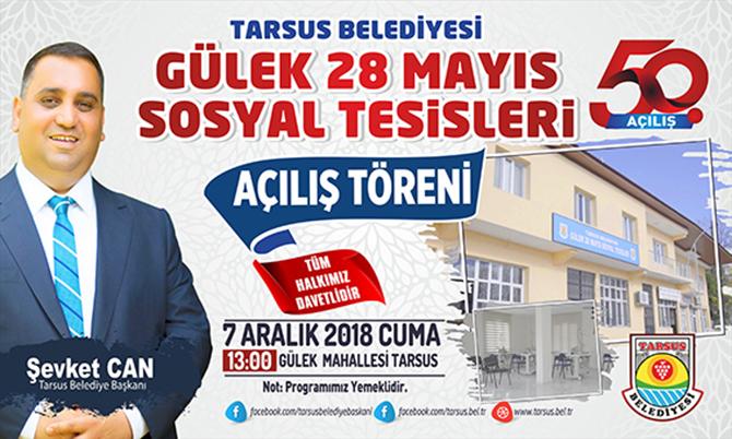 Tarsus Belediyesi 50. Hizmetini Yarın Açıyor