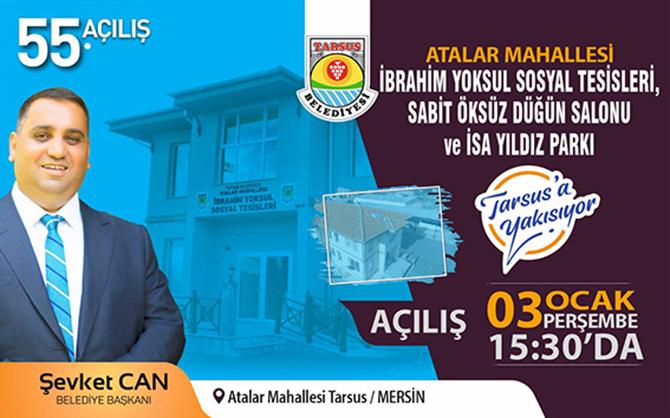 Tarsus Belediyesi, Yeni Yılda da Açılışlarına Devam Ediyor