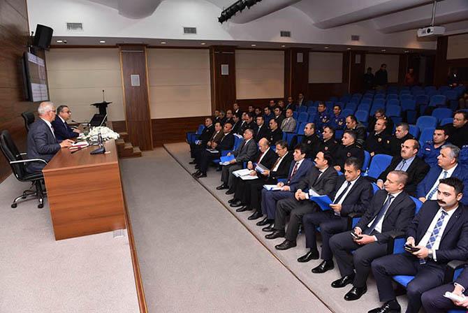 Seçim Güvenliği Toplantısı Vali Su Başkanlığında Yapıldı