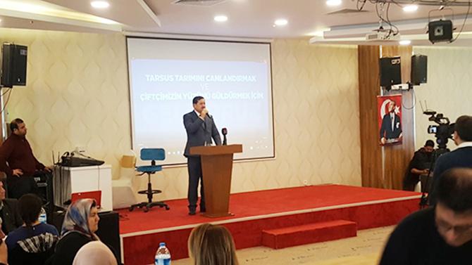 Tarsus Ziraat Odası Başkan Adayı Abdullah Seki, Tanıtım Toplantısı Düzenledi