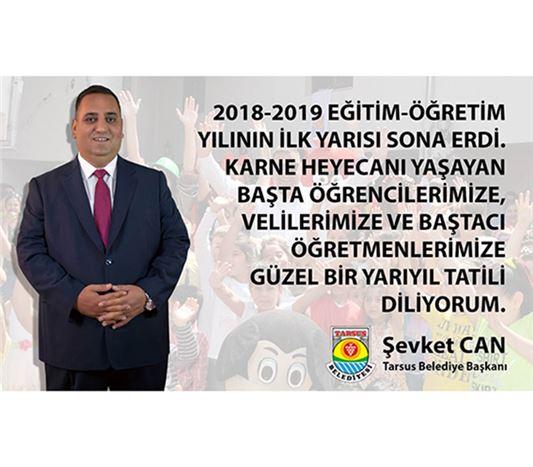 Başkan Can, Tüm Öğrencilere Mutlu Bir Yarıyıl Tatili Diledi