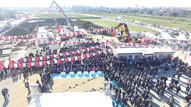 """472 Dairelik Toplu Konut Projesinin Temeli Törenle Atıldı"""""""