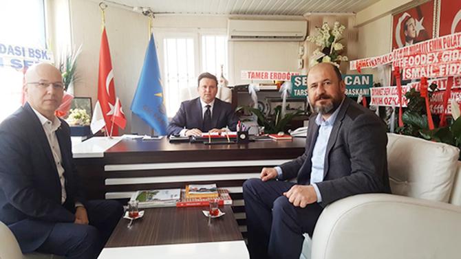Geçim ve Dolaşmaz, AK Parti Tarsus  İlçe Başkanı Nevzat Çetin'i Ziyaret Etti