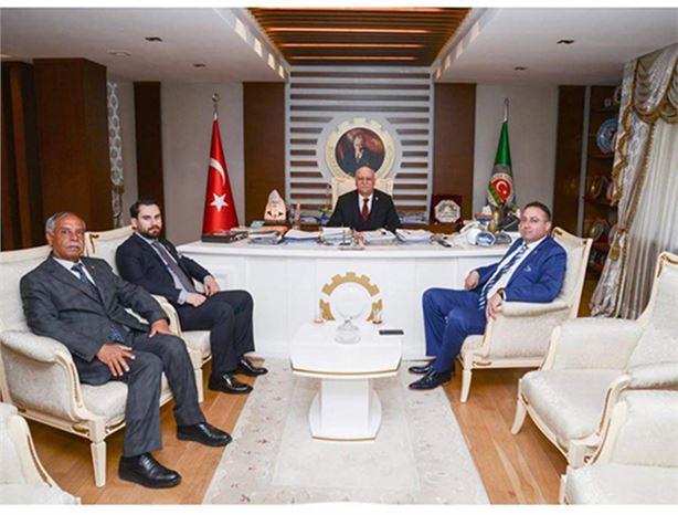 Tarsus Ziraat Odası Başkanı Veyis Avcı, Türkiye Ziraat Odaları Birliği Başkanı Şemsi Bayraktar'ı Ziyaret Etti