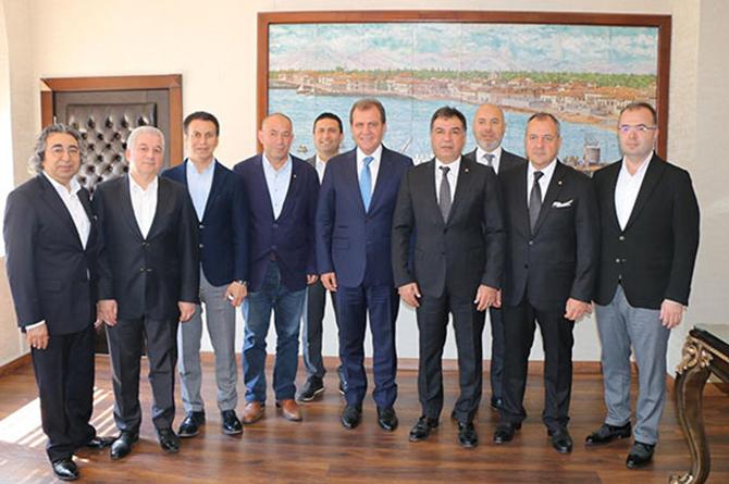 TSO Yönetimi Kurulu Üyeleri, Mersin Büyükşehir Belediye Başkanı Seçer ile Bir araya Geldi
