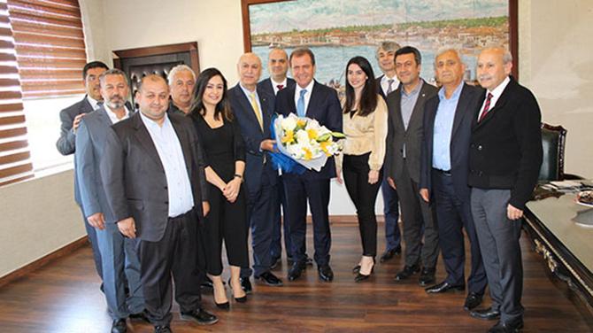 Ticaret Borsası Yönetimi, Seçer ve Bozdoğan'ı Ziyaret Etti