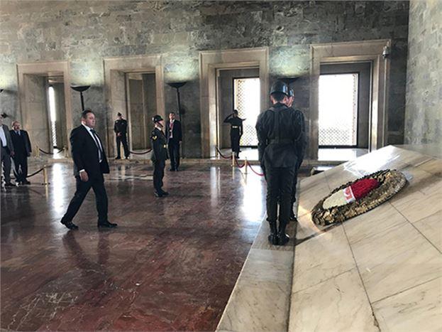 Ziraat Odası,  Anıtkabir'i Ziyaret Etti