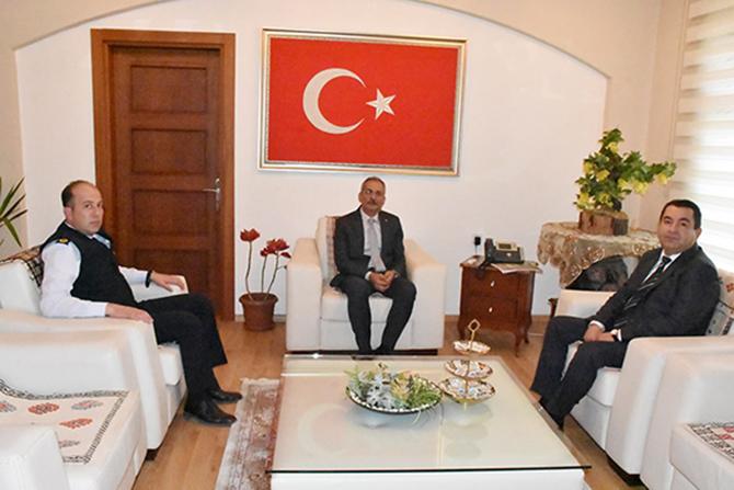 Emniyet ve Jandarma'dan, Başkan Bozdoğan'a Ziyaret