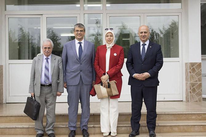 YÖK ve MEÜ Yönetimi, Tarsus Üniversitesi Rektörü Prof. Dr. Aydın'ı, Ziyaret Etti
