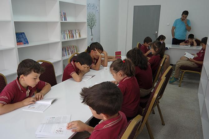 Kazım Taşkın İlkokuluna  Yeni Kütüphane Yapıldı