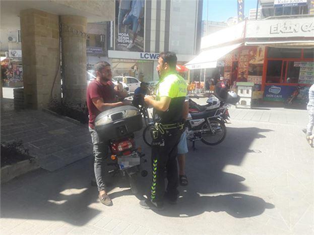 Motosiklet Sürücülerine Trafik Denetimi Yapıldı