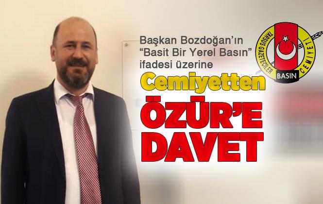 Cemiyet Başkanı Emre Geçim'den, Başkan Dr. Bozdoğan'ı Özür'e Davet