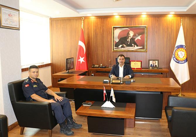Jandarma Komutanı'ndan Ziyaret
