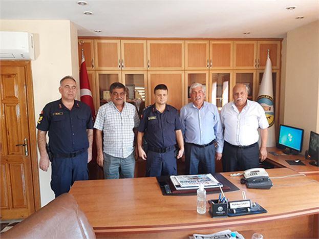 Yüzbaşı Boyacıoğlu, Başkan Şahin ve Kiltaş'ı Ziyaret Etti