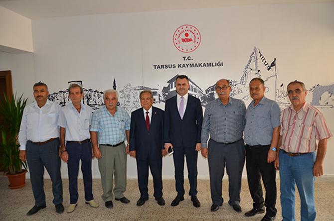 Başkan Ömer Kurnaz ve Ekibi, Kaymakam Otcu'ya, 'Hayırlı Olsun' Ziyaretinde Bulundu