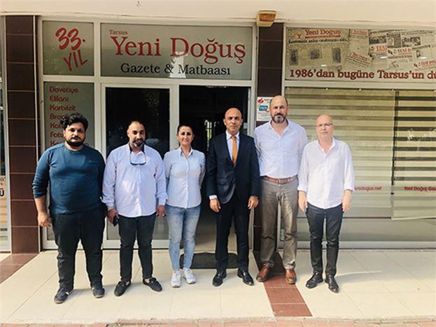 Mersin İl Emniyet Müdürü Mehmet Şahne, Gazeteciler Cemiyeti Yönetim Kurulu Üyeleri ile Buluştu