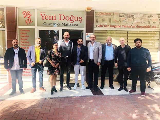 MGC Başkan Adayı Fatih Şahin, Tarsus Gazeteciler Cemiyeti Yönetimi ile Görüştü