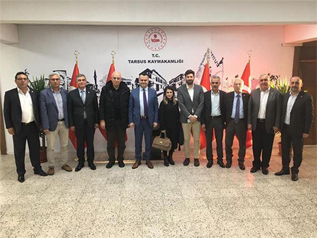 CHP'li Belediye Meclis Üyeleri, Kaymakam Otcu'yu Ziyaret Ettiler