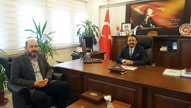 Yazı İşleri Müdürümüz Emre Geçim, Emniyet Müdürü Ercan Elbir'i Ziyaret Etti