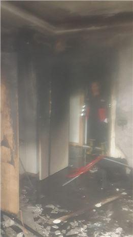 Sitede Çıkan Yangın Korkuttu