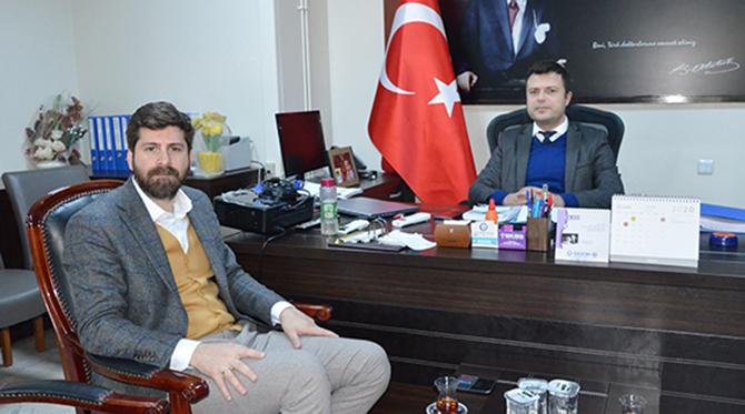 """Ali Boltaç'dan, Başhekim Sadık Emre Direk'e, """"Geçmiş Olsun"""" Ziyareti"""
