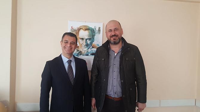 Gazetemiz Yazı İşleri Müdürü Geçim, CHP İlçe Başkanı Varal'ı Ziyaret Etti